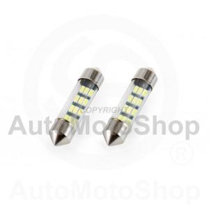 Spuldzes LED White Festoon C5W 12V 36mm 5600K 3014 12 x LED komplekts
