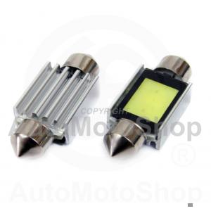 LED C5W 36mm CANBUS 5600K DayWhite 3xCOB SV8.5-8 Festoon 2.4W T11 5630 auto spuldze 12V