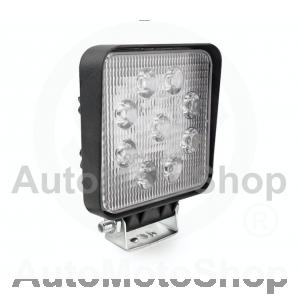 LED x9 27W 2200lm 9-36V 6500K 110x110x35mm Aluminium SUPERWHITE IP67 darba lukturis lampa 12V
