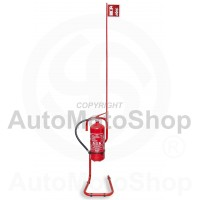 Fire extinguisher stand. Portable. With indicator flag.