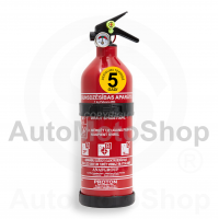 Portable Fire Extinguisher 8A34BC Powder 1kg (alumīnija korpuss)