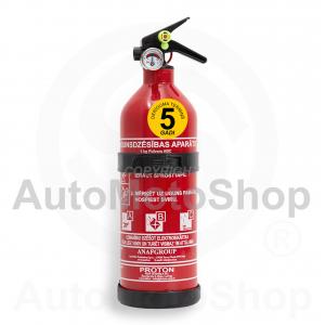 Auto ugunsdzēšamais aparāts 1kg 5 gadi  8A34BC pulveris alumīnija korpuss