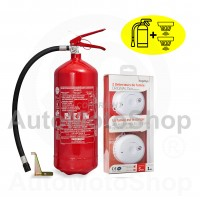 KIT: Fire Extinguisher 6kg and smoke detector