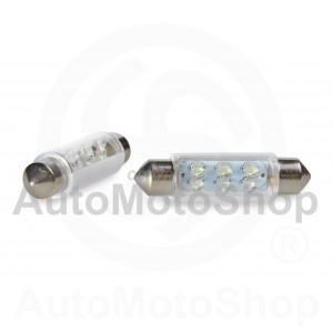LED Auto Spuldze 12V SV8.5 5W 6xdiodes (balts) 2gb 42175
