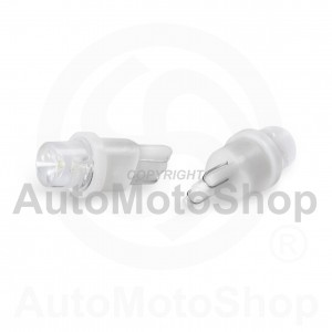 LED Auto Spuldze 12V T10 W5W 1xdiode (balts) 2gb 42979
