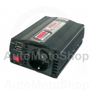 Power converter 12V to 220V with USB 300W / 600W. 61989