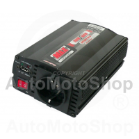 Strāvas Pārveidotājs 24V uz 220V ar USB 300W / 600W. 42473