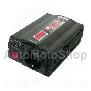 Power converter 24V to 220V with USB 300W / 600W. 42473