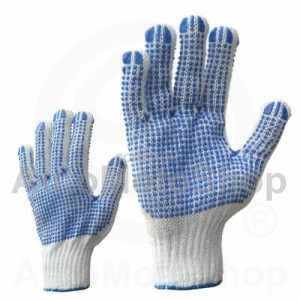 Knitted Work Gloves with divpusēju punktējumu