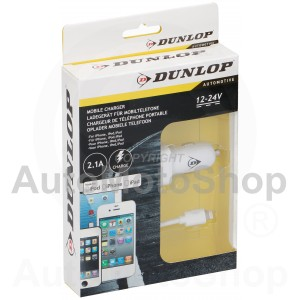 Mobile Phone Charger for 8pin (iPhone) 2.1A. Dunlop