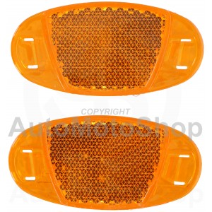 Bicycle Side Reflector Kit. Orange Yellow 2gb. Dunlop