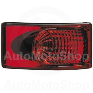 Combination Taillight housing grey, lens red | Original Equipment HELLA: 2SB 008 805-027