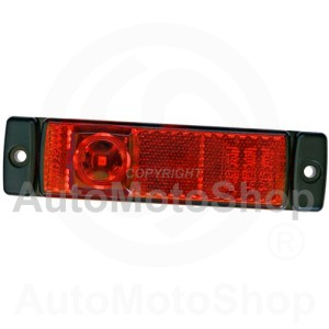 Outline Lamp, 24 V, red housing black | Original Equipment HELLA: 2TM 008 645-957