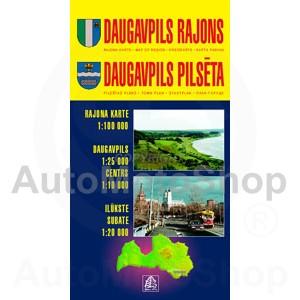 Karte Daugavpils rajons