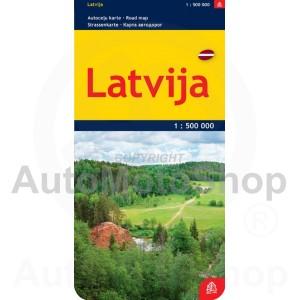 Karte Latvija 1:500 000