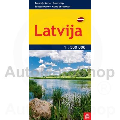 Karte Latvija 1:500 000 plānā