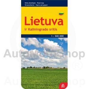 Karte Lietuva 1 : 500 000