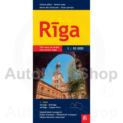 Karte Rīga 1:50 000 (mazā)