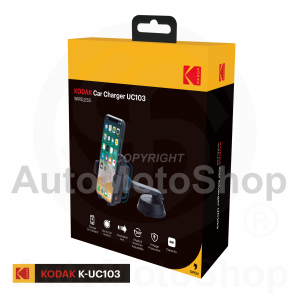 Car phone holder with built-in wireless charger 2A. Universal Kodak UC103