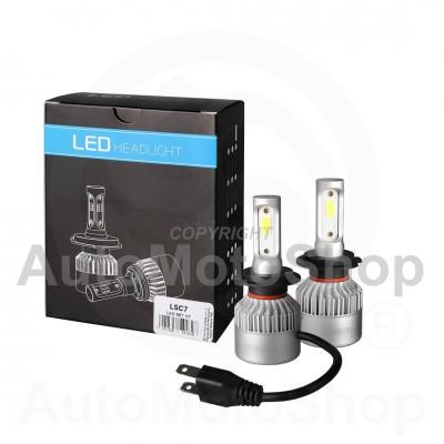 LED H7 CANBUS 6500K SUPERWHITE KOMPLEKTS Auto Spuldze LSC7 12V