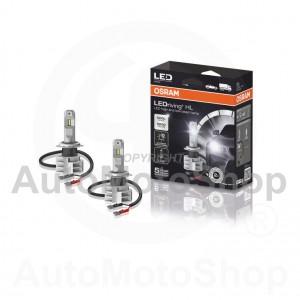 LED H7 6000K SUPERWHITE PX26d LEDriving® 2gab 5 gadi auto spuldze 12V 24V 14W OSRAM