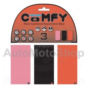 Moto kakla lakats Comfy Pink/Blk/Red  3-Paka Oxford NW113