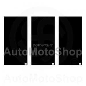 Moto kakla lakats sejas maska Comfy Black  3-Paka Oxford NW121