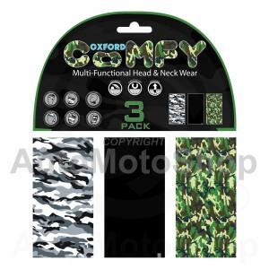 Moto kakla lakats sejas maska Comfy Camo 3 Paka Oxford NW123