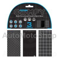 Moto kakla lakats Comfy Black&White Tartan 3-Paka Oxford NW108
