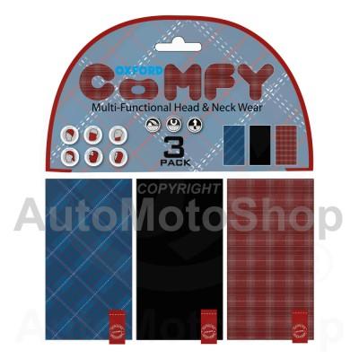 Moto kakla lakats Comfy Plaid 3-Paka Oxford NW135