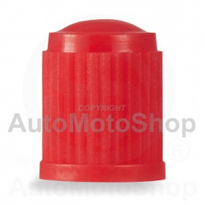 Plastmasas micīte riepas ventilim typ:Schrader sarkana VC8