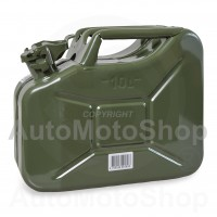 Metal Fuel Canister. Jerry can 10L, Green