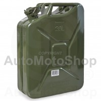 Metal Fuel Canister. Jerry can 20L, Green