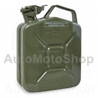 Metal Fuel Canister. Jerry can 5L, Green