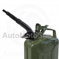 Metal Fuel Canister. Jerry cans extension Straight, flexible