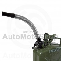 Metal Fuel Canister. Jerry cans Flexible extension for diesel, 25mm diameter