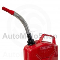 Metal Fuel Canister. Jerry cans Flexible extension for gasoline, srew type