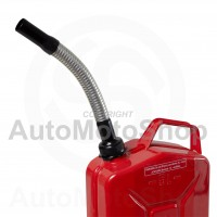 Metal Fuel Canister. Jerry cans Flexible extension for diesel, screw type