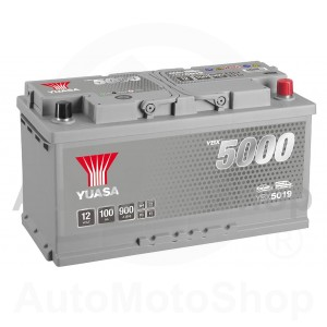 Auto akumulators 12V 100Ah 900A 175x190x353 Silver High Performance SMF YUASA YBX5019