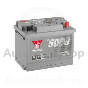 Auto akumulators 12V 65Ah 640A 175x190x243 Silver High Performance SMF YUASA YBX5027