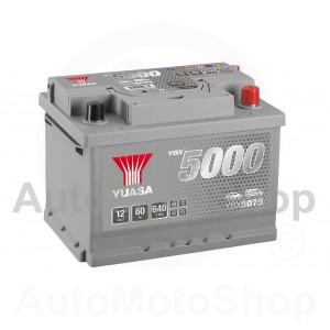 Auto akumulators 12V 60Ah 640A 175x175x243 Silver High Performance SMF YUASA YBX5075