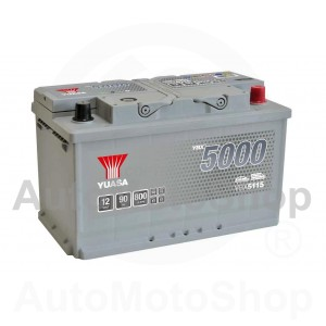 Auto akumulators 12V 90Ah 800A 175x190x315 Silver High Performance SMF YUASA YBX5115