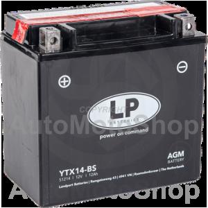 Motocikla akumulators 12V 12Ah 190A AGM 150x87x145 LANDPORT