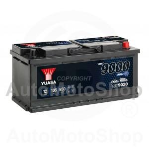 Auto akumulators 12V 105Ah 950A 175x190x393 START-STOP AGM YUASA YBX9020
