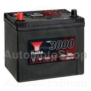 Auto akumulators 12V 60Ah 500A 173x225x231 YUASA YBX3014
