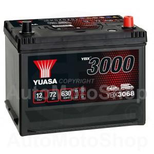 Auto akumulators 12V 72Ah 630A 174x223x269 YUASA YBX3068