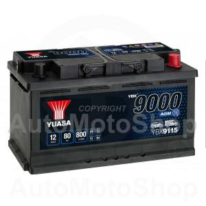 Auto akumulators 12V 80Ah 800A 175x190x317 START-STOP AGM YUASA YBX9115