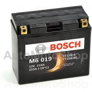 Motocikla akumulators 12V 12Ah 215A M6 AGM 150x70x130 BOSCH